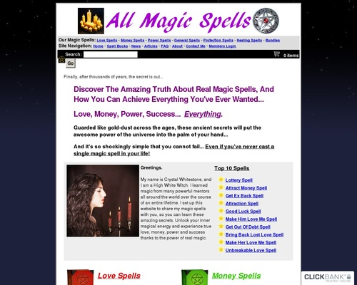 All Magic Spells (tm) : Top Converting Magic Spell Ecommerce Store