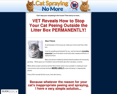 Cat Spraying No More - How to Stop Cats From Urinating Outside the Litterbox!