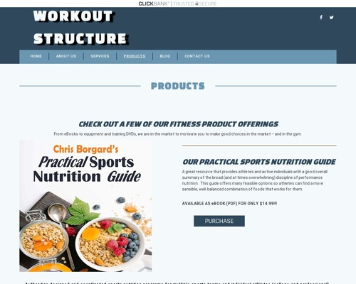 Products   Workout Structure