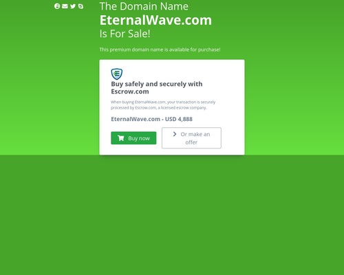 EternalWave.com domain name is for sale. Inquire now.