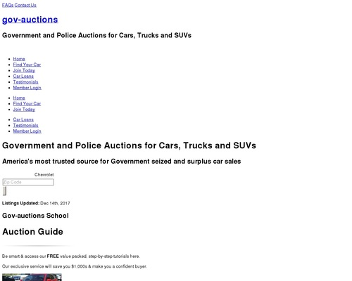 Government Car Auctions | Gov-Auctions