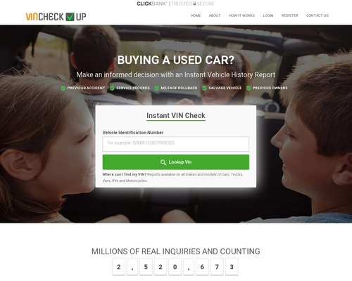 Vincheckup.com - Instant Vehicle History Reports