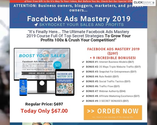 Facebook Ads Mastery 2019