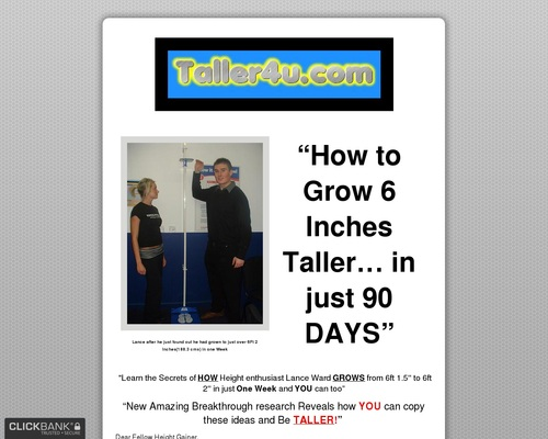 How To Grow Taller - Grow 3-6 Inches (7.62cm-15.24cm) Taller Now