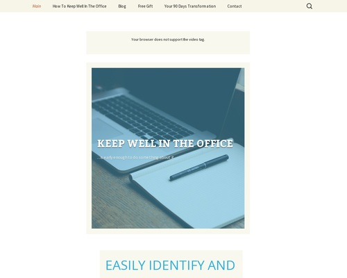 Keep Well In The Office |