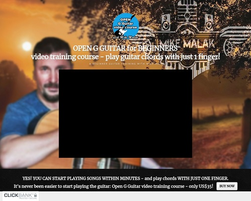 OPEN G GUITAR for BEGINNERS - start playing within minutes - easy guitar training - digital video training by Mike Malak