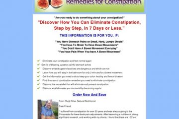 Remedies For Constipation e-book
