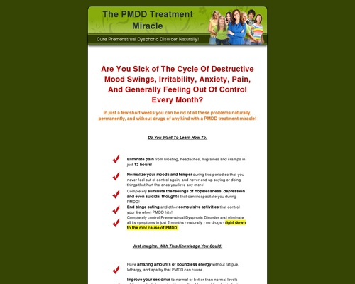The PMDD Treatment Miracle - Cure Premenstrual Dysphoric Disorder Naturally!