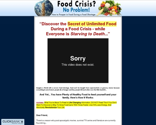 Food Crisis No Problem - How to Prosper in Food During a Food Shortage