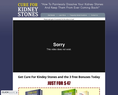 Cure For Kidney Stones™ - How To Cure Kidney Stones Naturally!