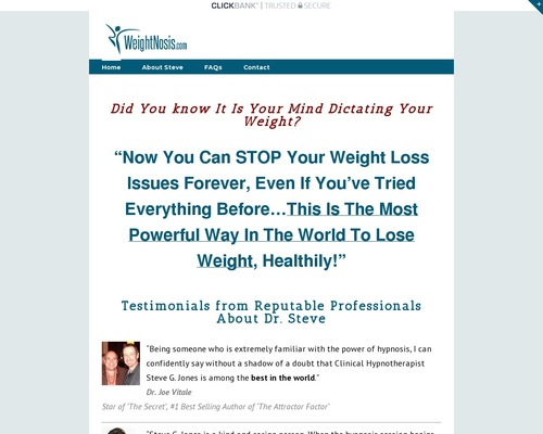 Hypnosis for Weight Loss, Hypnotherapy Audio Download 2018 | WeightNosis