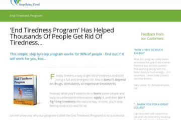 'End Tiredness Program' Has Helped Thousands Of People Get Rid Of Tiredness… | Stop Being Tired